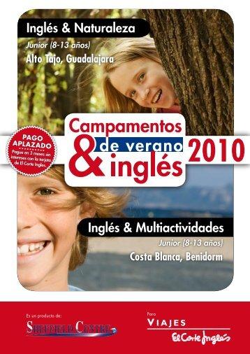 Inglés & Naturaleza Inglés & Multiactividades - Viajes El Corte Inglés