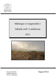 Tungmetaller i fallande stoft - Landskrona kommun