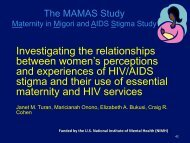 Investigating the relationships between women's perceptions and ...