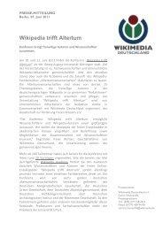 Wikipedia trifft Altertum - Wikimedia Deutschland