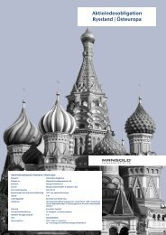 Aktieindexobligation Ryssland / Östeuropa - Mangold ...