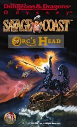 Book One: Orc's Head Peninsula Sourcebook