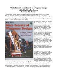 Wally Simon's More Secrets of Wargame Design ... - Lone Warrior Blog