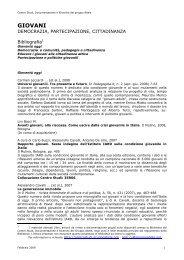 Bibliografia giovani, partecipazione, cittadinanza - Comune di Pianoro