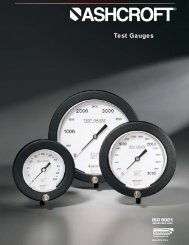 Type 1082 and 1084 Test Gauge - Temp-Press Inc