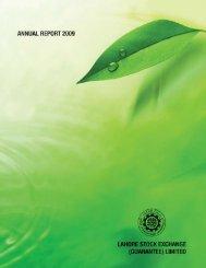 Annual Report 2009 - Lahore Stock Exchange