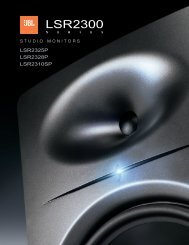 LSR2300 Brochure - JBL Professional