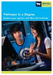 Pathways to a Degree - Box Hill Institute of TAFE