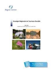 Stratégie Régionale de Tourisme Durable - Région Centre