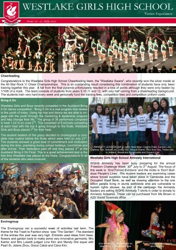 Issue 10– 27 July 2012 Cheerleading Congratulations to ... - AllTeams