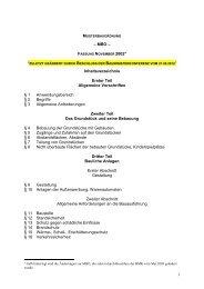 1 – MBO – Inhaltsverzeichnis Erster Teil Allgemeine Vorschriften § 1 ...