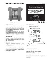 HCK4 In-Line Check Valves (C401) - Hansen Technologies