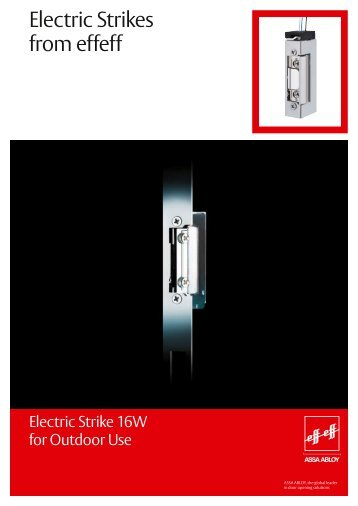 Electric Strikes from effeff - ASSA ABLOY Hungary