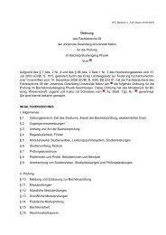 Prüfungsordnung - im Fachbereich Physik, Mathematik und ...