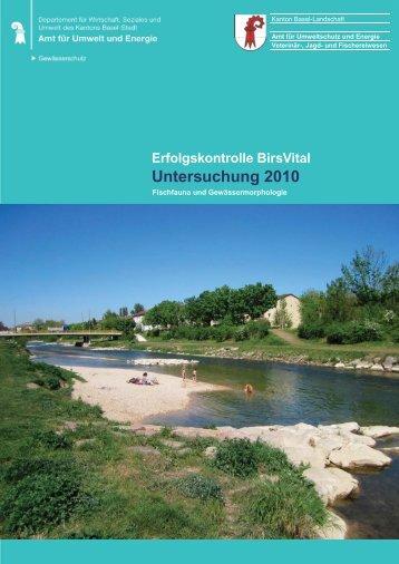 BirsVital - Erfolgskontrolle 2010 - Kanton Basel-Landschaft