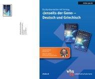 ‹Jenseits der Gene› – Deutsch und Griechisch - Hellasfreunde Bern