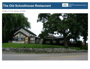 The Old Schoolhouse Restaurant - United Country Real Estate
