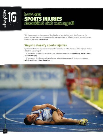 Ways to classify sports injuries