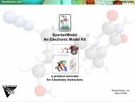 SpartanModel An Electronic Model Kit a product ... - Wavefunction, Inc.
