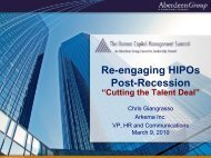 Imperatives to Re-engage HIPOs - Summit