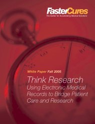 Think Research - Using Electronic Medical Records to ... - FasterCures