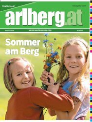 arlberg.at: Sommer am Berg - Vorarlberg Online
