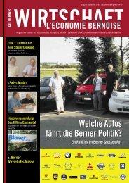 (moderate) Steuersenkung», Interview in«Die Berner Wirtschaft»