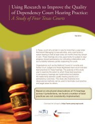 Using Research to Improve the Quality of Dependency Court ...