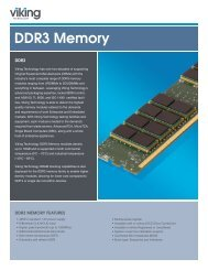 DDR3 Product Brief - Viking Technology