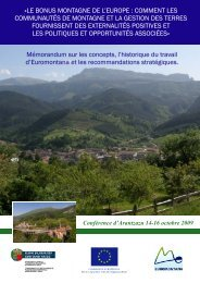 mémorandum sur les externalités positives - Euromontana