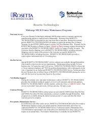 Rosetta Technologies - Bottomline Technologies
