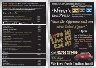 Up To 50% Off Your - Ninos Dial A Pizza