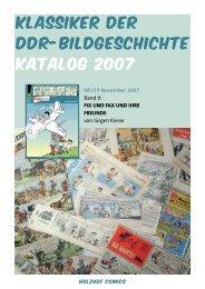 Klassiker der DDR-Bildgeschichte katalog 2007 - Comics in der DDR