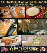 Restaurant Guide 2012 - Watertown Daily Times