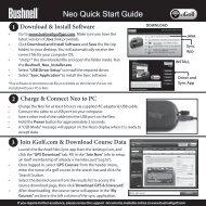 Neo Quick Start Guide - Bushnell Golf