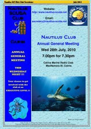 July 2010 Newsletter.pub - Nautilus Scuba Club Cairns