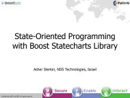 State-Oriented Programming with Boost Statecharts Library