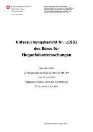 Untersuchungsbericht Nr. u1981 des Büros für ...