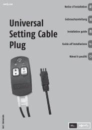 Universal Setting Cable Plug - Somfy