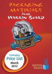 46150 WARREN Packaging Price List March 2012 ... - Warren Board