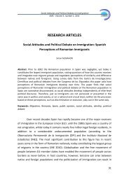 Social Attitudes and Political Debate on Immigration - Research ...