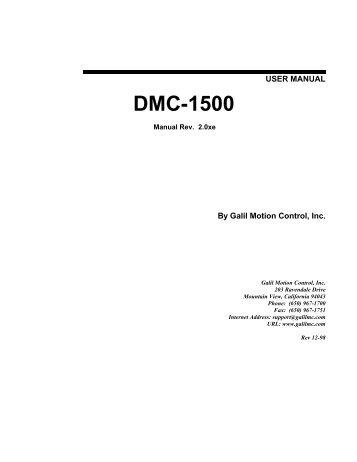 User Manual DMC-1500