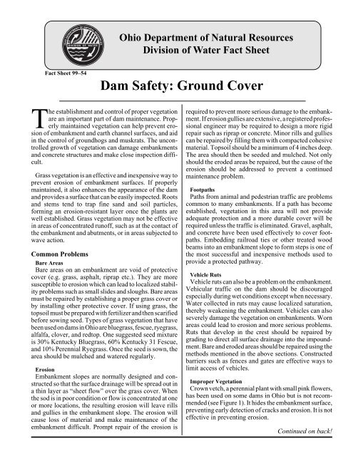 fctsht54 Dam S/Ground Cover - Association of State Dam Safety ...