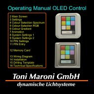 Operating Manual OLED Control - Toni Maroni GmbH