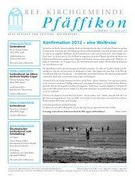 Ausgabe vom 27.7.2012 - Ref. Kirchgemeinde Pfäffikon