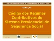 Código dos Regimes Contributivos do Sistema Previdencial de ...
