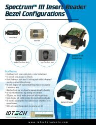 Download ID TECH Spectrum III Bezels PDF Data Sheet - POSDATA