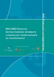 NHG-KNGF Richtlijn gestructureerde informatie-uitwisseling