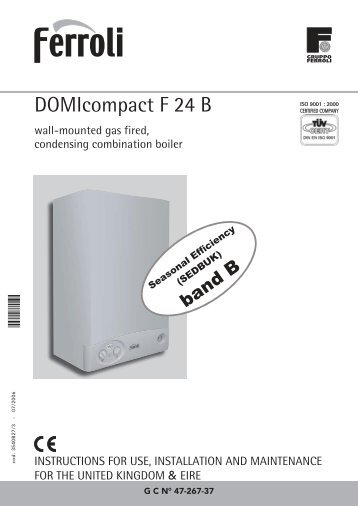Domicompact f24 for Ferroli domicompact