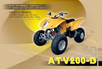 ATV200-D USER'S MANUAL.MDI - Family Go Karts